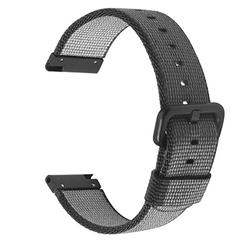 22mm Nylon Watch Band SIKAI Quick Release Universal Woven Nylon Replacement Strap For Samsung Gear S3 Classic / Frontier / LG G Watch / Urbane / Moto 360 2nd Gen 46mm Bracelet (Black, 22mm)