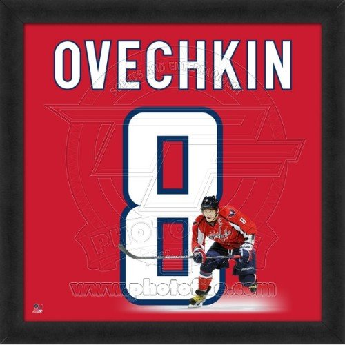 Alex Ovechkin Washington Capitals 20x20 Framed Uniframe Jersey Photo