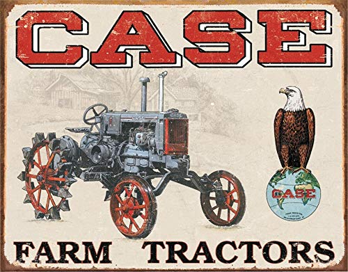 MMNGT Tin Sign Case Tractor Cc High Nostalgic Emobssed Tin Signs All Signs TIN Sign 7.8X11.8 INCH