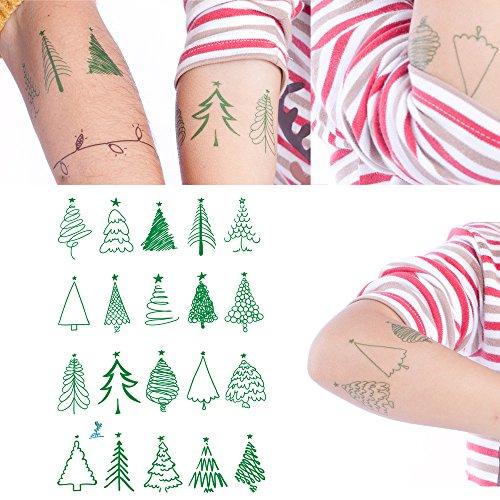 Yeeech 20+ Tree Designs Temporary Tattoos Sticker Green Armband Waterproof Small -