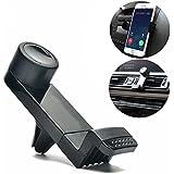 Vproption Universal Smartphone Car Air Vent Mount Holder Cradle Compatible with Nexus Sony iPhone X 8 8 Plus 7 7 Plus SE 6s 6 Plus 6 5s 5 4s 4 Samsung Galaxy S6 S5 S4 LG (Black)