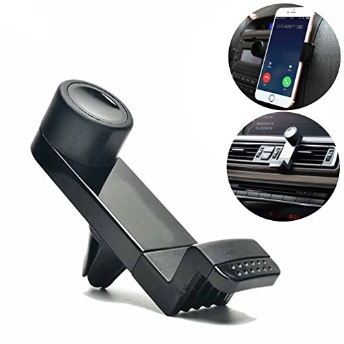 Vproption Universal Smartphone Car Air Vent Mount Holder Cradle Compatible with Nexus Sony iPhone X 8 8 Plus 7 7 Plus SE 6s 6 Plus 6 5s 5 4s 4 Samsung Galaxy S6 S5 S4 LG (Black)