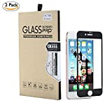 [2 PCS/Pack] Tempered Glass Screen Protector Anti-Fingerprint Anti-Oil Coating for iPhone 7 Plus by MayJu [Black]
