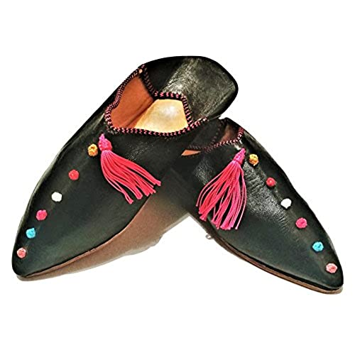 717df5c25700c lovely Moroccan Babouche Flat Leather Handmade Shoes - City Style in ...