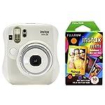 Fujifilm Instax Mini 26 + Rainbow Film Bundle – White