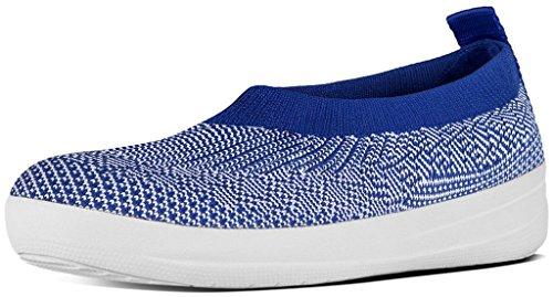 458 Ballerina (FitFlop™ Uberknit™ Slip-On Ballet Flats Mazarine Blue/White Size)