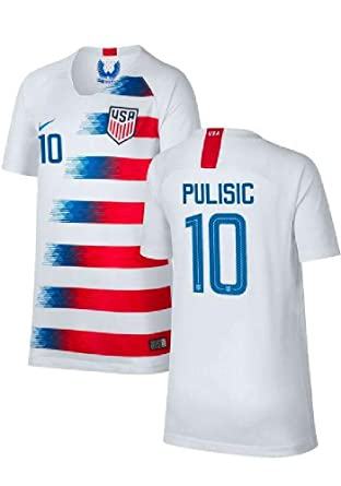 09926afd593 Amazon.com: Nike Official USA Home Youth Jersey 2018-19 Pulisic 10 ...