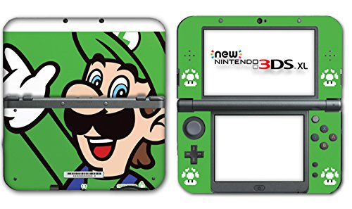 New Super Mario Bros Luigi Special Edition Video Game Vinyl Decal Skin Sticker Cover for the New Nintendo 3DS XL LL 2015 System Console