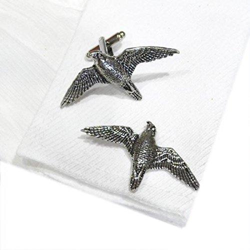 Peregrine Falcon Costume (Retail Zone Pewter Peregrine Falcon Cufflinks Handmade In England Cuff Links Bird)