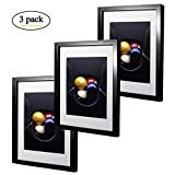 #7: 11 x 14 inch Black Picture Frame Made to Display Pictures 8x10 with Mat or 11x14 without Mat 3 Pack One Set for Wall & Tabletop Chirstmas Holiday Home Gift