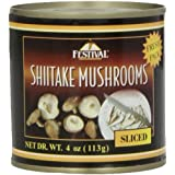 Festival Sliced Shiitake Mushrooms - Fresh Pack, 4-Ounce (Pack of 24)