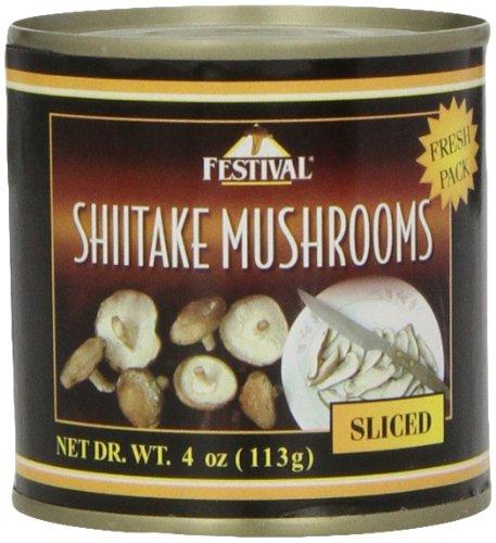 Festival Sliced Shiitake Mushrooms - Fresh Pack, 4-Ounce (Pack of 24)