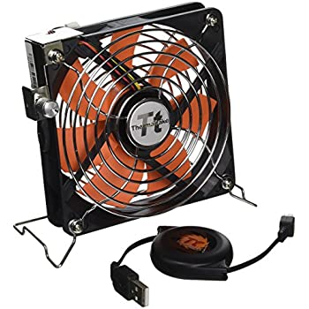 Thermaltake Mobile Fan 12 External USB Cooling 120mm Fan with One-Touch Retractable USB Power Cable Box for Notebook Laptop Desktop. AF0007
