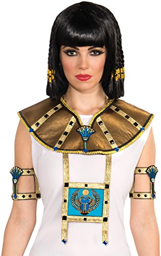 Forum Novelties Women's 2-Piece Deluxe Egyptian Collar, Gold, One Size -