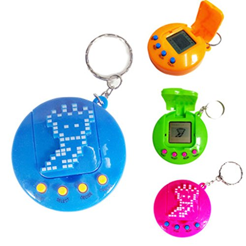 Yournamei 1Pc Lcd Virtual Digital Pet Electronic Game Machine Retro Funny Toy With Keychain