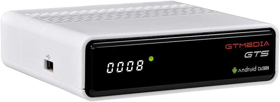 GT MEDIA GTS Decodificador Satelite 4K Android 6.0 TV Box Receptor de Satélite DVB-S/S2 Amlogic S905D 2GB RAM+8GB ROM 3D H.265 HEVC MPEG-2/4 WiFi 2.4Ghz BT 4.0 Smart TV Box: Amazon.es: Electrónica