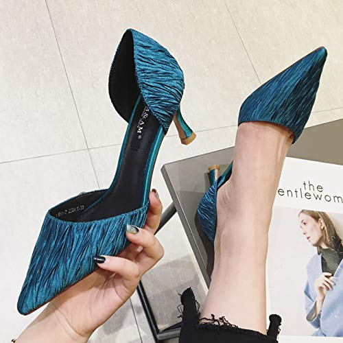 Autumn Super High High Wild Mouth Green Shoes Stiletto Shoes Patent Black Waterproof Platform Pointed Heels And Yukun heels 36 Leather Spring Shallow wB8qwzIg