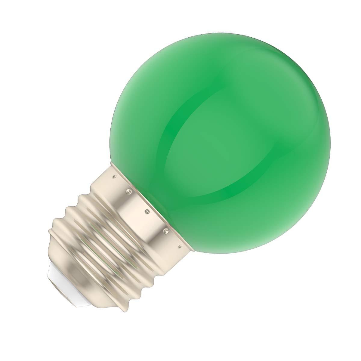 Paquet de 10 Ampoule LED de couleur 1W Ampoules /à vis E27 pour mariage Halloween F/ête De No/ël Bar Ambiance Ambiance D/écor Vert