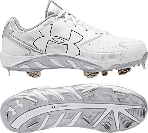 Under Armour Womens Spine Glyde ST CC Metal Cleats 8 US White/White
