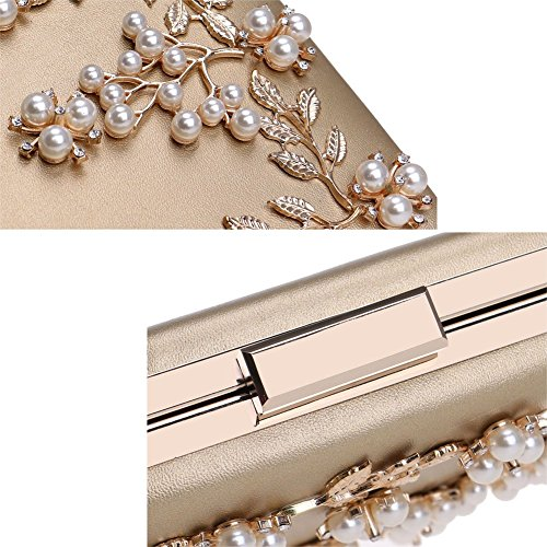Flower Bag Appliques Evening Party Dinner Clutch Bag Mini Clutch Pearl DCRYWRX Evening Bag Handbag Red Eqpw414