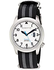 Momentum Mens Flatline Swiss Quartz Stainless Steel and Nylon Casual WatchMulti Color (Model: 1M-SP18LS7S)