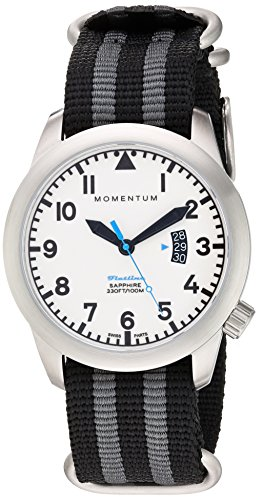 Momentum Men's 'Flatline' Swiss Quartz Stainless Steel and Nylon Casual WatchMulti Color (Model: 1M-SP18LS7S)