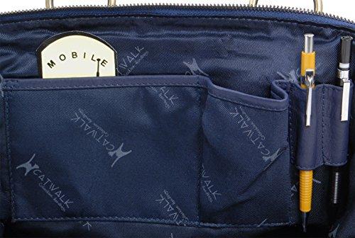 en Bleu docteur cuir Collection signé Marine Sac Catwalk 15xgwP