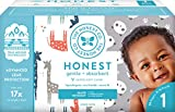 The Honest Company Club Box Diapers with TrueAbsorb Technology, Pandas & Safari, Size 1, 80 Count