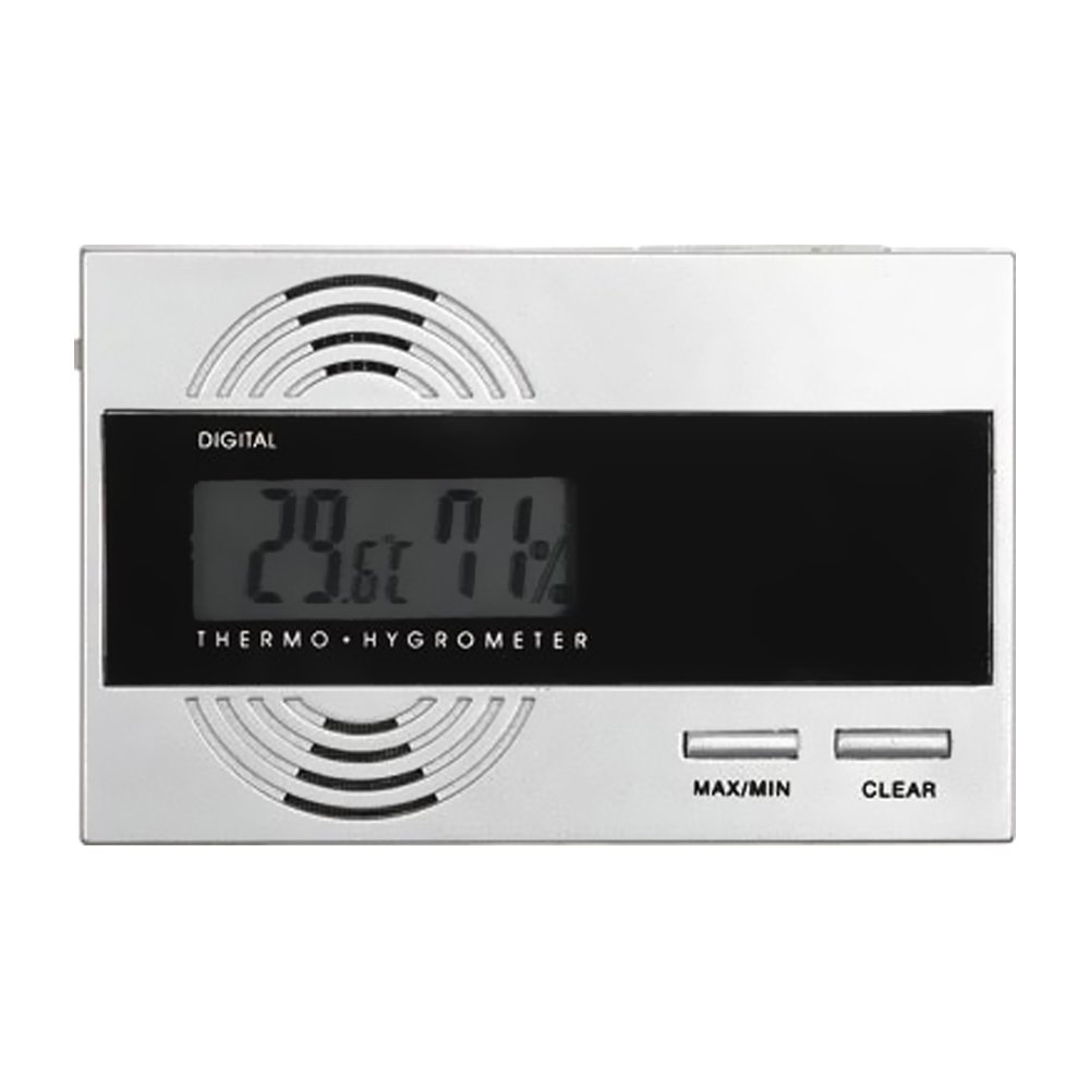 Visol Silver Digital Thermo Hygrometer for Cigar Humidors