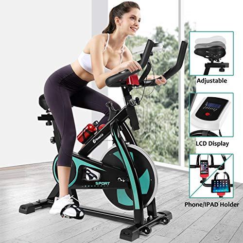 Fitnessclub Indoor Exercise Bike Cardio Workout W/Belt Driven Flywheel Cycling Adjustable Handlebars Seat Resistance…