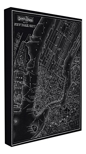 The Stupell Home Decor Collection New York City 1985 Vintage Map Stretched Canvas Wall Art