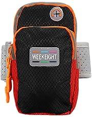 حقيبة ذراع رياضية للركض مزودة بسحاب مزدوج من ويكيف، أسود BD-TRVL-ARM