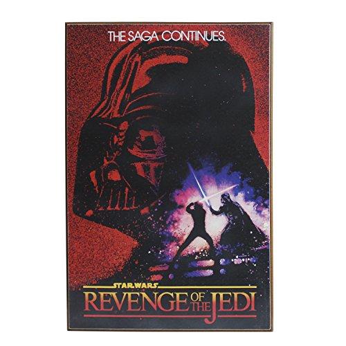 (Silver Buffalo SW2436 Disney Star Wars Revenge Of the Jedi Wood Wall Art, 13 x 19 inches)
