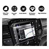 uconnect dodge - 2019 Dodge Ram 1500 Uconnect Touchscreen Car Display Navigation Screen Protector, HD Clear TEMPERED GLASS Protective Film Against Scratch High Clarity (8.4 Inch)