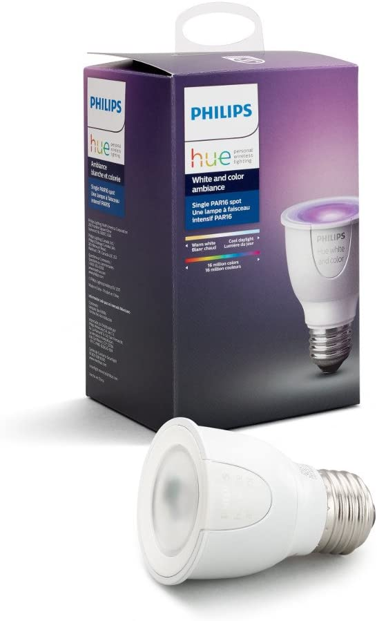 Hue White and Color Ambiance PAR16 Wi-Fi Smart LED Spot Light Bulb