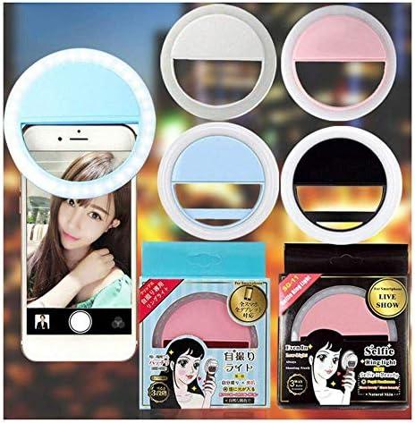 リングポータブルクリップ電話カメラセルフィーリングフラッシュミニ電話レンズ美容フィルライトスマートフォン写真カメラ、ホワイト、中国
