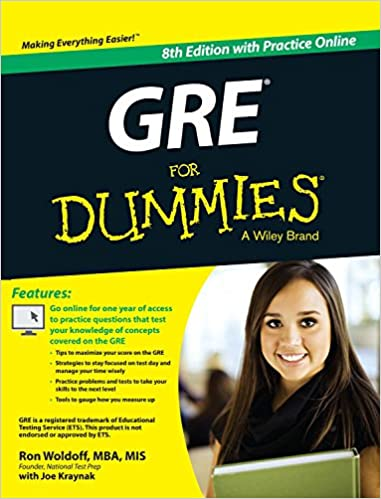 GRE for Dummies cover art