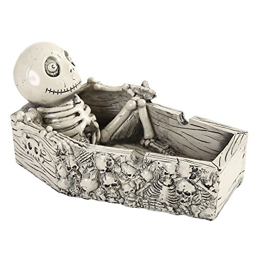 Skeleton Cigarette Ashtray Halloween Decoration