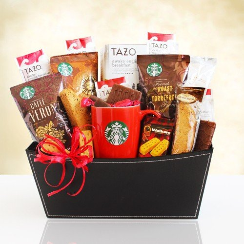 California Delicious Starbucks Coffee and Tea Thank You Basket