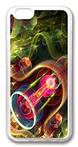 Colorful abstract ID04 Custom iphone 6 plus 5.5inch Case Cover TPU Transparent