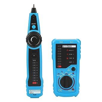 Akozon BSIDE Comprobador de Cables,Buscador de líneas RJ45/RJ11 Ethernet LAN Detector de