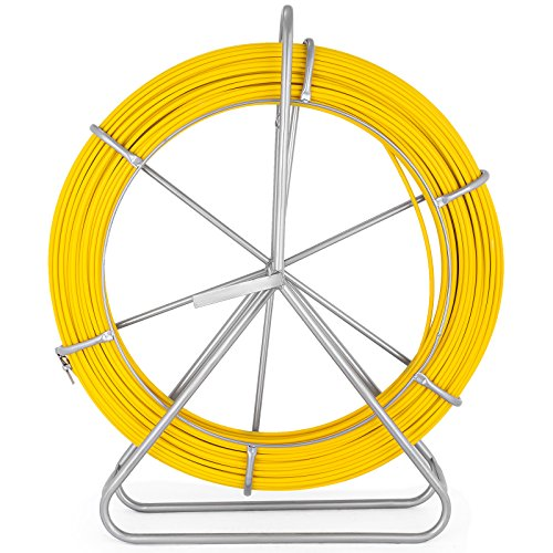 VEVOR Fish Tape Fiberglass 8MM 492FT Duct Rodder Fish Tape Continuous Fiberglass Tape Wire Cable Running with Cage and Wheel Stand by VEVOR (Image #8)