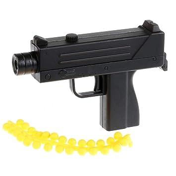 Buy Bestie Toys Gun with Soft Bullets for Kids (Black, Mac-10