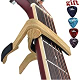 Capo Guitar Capo -for 6-String Acoustic & Electric Guitar-Zinc Alloy Quick Change Trigger Capo & Free 4 Pick