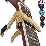 Capo Guitar Capo -for 6-String Acoustic & Electric Guitar-Zinc Alloy Quick Change Trigger Capo & Free 4 Pick