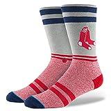 Stance Men's Crimson Hose Crew Sock, Red, Sock Size:10-13/Shoe Size: 6-12