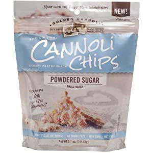 The Original Cannoli Pastry Chips 5.1oz (Powdered Sugar)