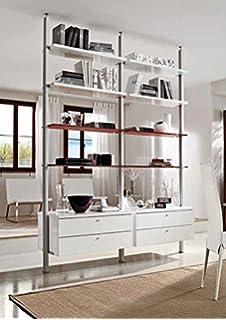 Libreria Bifacciale Separa Ambienti con Rotelle: Amazon.it: Casa e ...