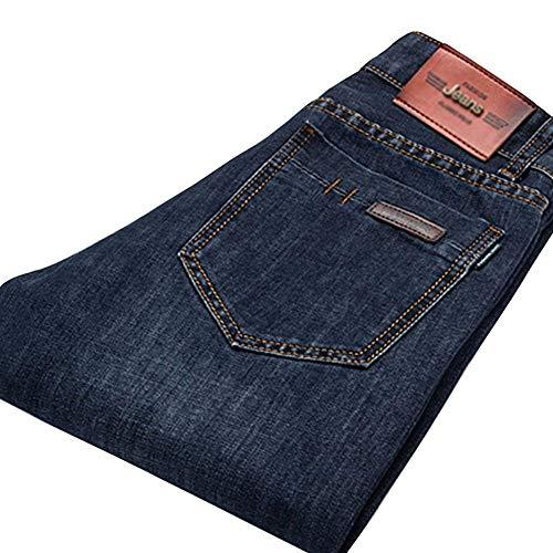Abbigliamento Base Da Regular In Alla Dritta Gamba Pantaloni Moda Slim Di Denim A Dunkelblau3 Uomo Retrò Casual Jeans qpA0wA8B