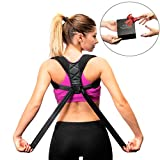 Back Posture Corrector for Women and Men-Breathable and Comfortable Clavicle Brace for Improving Posture-Adjustable and Discreet Clavicle Support Brace for Slouching & Hunching